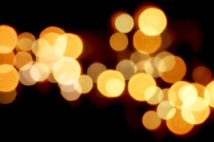 """The warm glow of outdoor lights in """"Luminosity."""""""